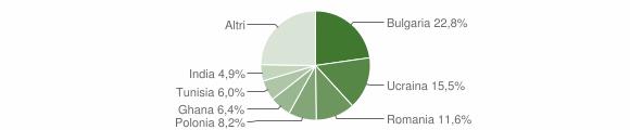 Grafico cittadinanza stranieri - Mondragone 2018