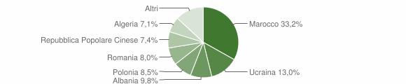 Grafico cittadinanza stranieri - San Marcellino 2009
