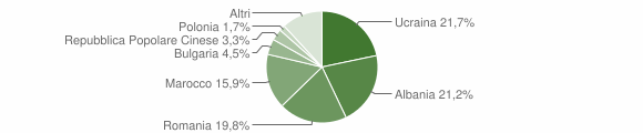 Grafico cittadinanza stranieri - Angri 2019