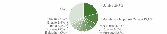 Grafico cittadinanza stranieri - Casavatore 2019