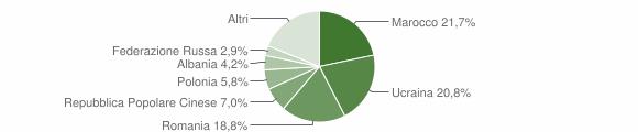 Grafico cittadinanza stranieri - Curti 2019
