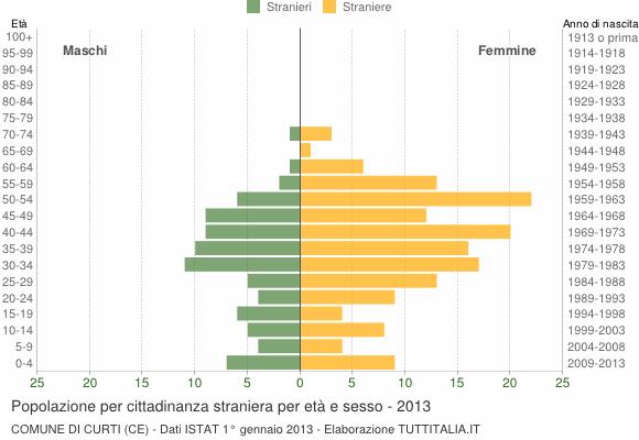 Grafico cittadini stranieri - Curti 2013