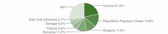Grafico cittadinanza stranieri - Mercogliano 2011