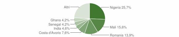Grafico cittadinanza stranieri - Dugenta 2018