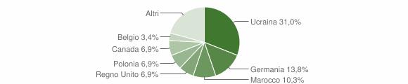 Grafico cittadinanza stranieri - Montefalcione 2007