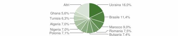 Grafico cittadinanza stranieri - Qualiano 2016