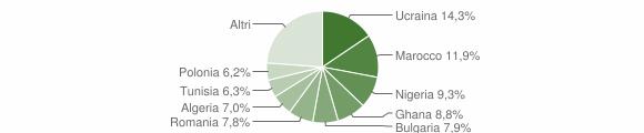 Grafico cittadinanza stranieri - Qualiano 2019