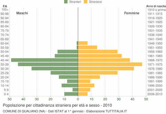 Grafico cittadini stranieri - Qualiano 2010
