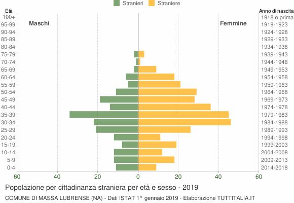 Grafico cittadini stranieri - Massa Lubrense 2019