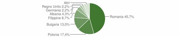 Grafico cittadinanza stranieri - Montemarano 2009