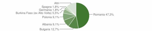 Grafico cittadinanza stranieri - Montemarano 2018