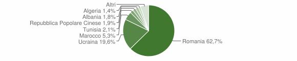 Grafico cittadinanza stranieri - Parete 2016