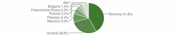 Grafico cittadinanza stranieri - Siano 2018