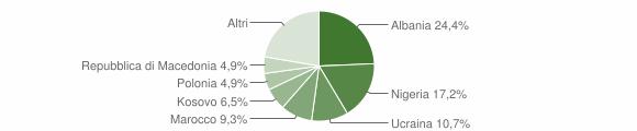 Grafico cittadinanza stranieri - Gricignano di Aversa 2013