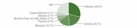 Grafico cittadinanza stranieri - Sant'Arpino 2016