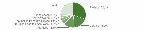 Grafico cittadinanza stranieri - Sant'Arpino 2018