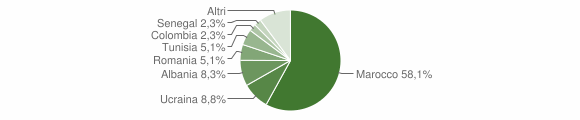 Grafico cittadinanza stranieri - Macerata Campania 2013
