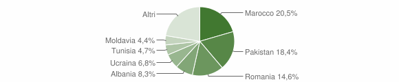 Grafico cittadinanza stranieri - Molinella 2012