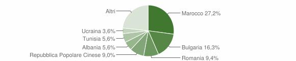Grafico cittadinanza stranieri - Longiano 2010