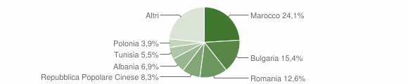 Grafico cittadinanza stranieri - Longiano 2012