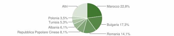 Grafico cittadinanza stranieri - Longiano 2013