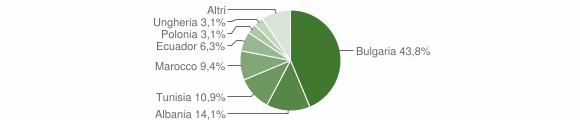 Grafico cittadinanza stranieri - Montiano 2007