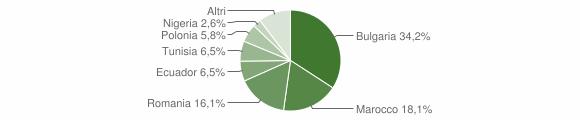 Grafico cittadinanza stranieri - Montiano 2016