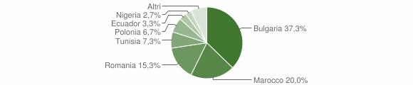 Grafico cittadinanza stranieri - Montiano 2017