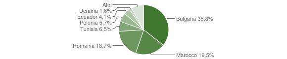 Grafico cittadinanza stranieri - Montiano 2018