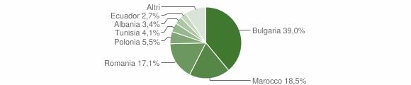Grafico cittadinanza stranieri - Montiano 2019