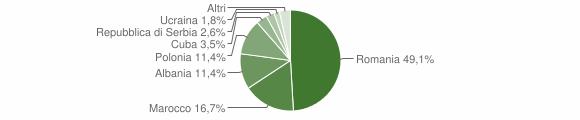 Grafico cittadinanza stranieri - Premilcuore 2017