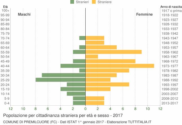 Grafico cittadini stranieri - Premilcuore 2017