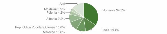 Grafico cittadinanza stranieri - Castel d'Aiano 2015