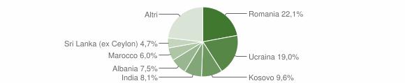 Grafico cittadinanza stranieri - Castell'Arquato 2019