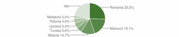 Grafico cittadinanza stranieri - Imola 2011