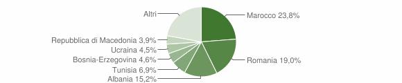 Grafico cittadinanza stranieri - Sarmato 2013