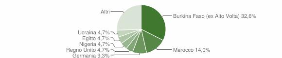 Grafico cittadinanza stranieri - Portico e San Benedetto 2009