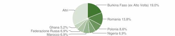 Grafico cittadinanza stranieri - Portico e San Benedetto 2017