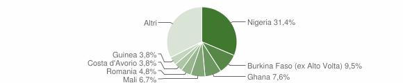 Grafico cittadinanza stranieri - Portico e San Benedetto 2019