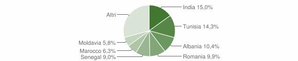 Grafico cittadinanza stranieri - Colorno 2015