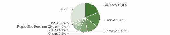 Grafico cittadinanza stranieri - Maranello 2019
