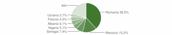 Grafico cittadinanza stranieri - Bagnacavallo 2019