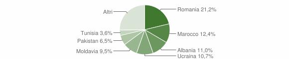 Grafico cittadinanza stranieri - Castenaso 2015