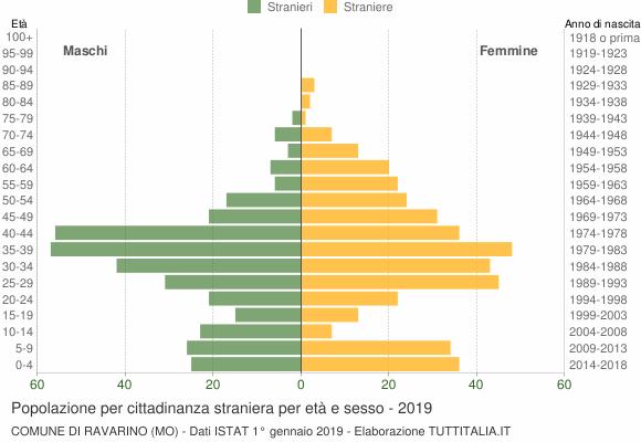 Grafico cittadini stranieri - Ravarino 2019