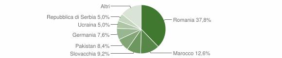 Grafico cittadinanza stranieri - Sant'Agata Feltria 2010
