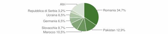 Grafico cittadinanza stranieri - Sant'Agata Feltria 2013