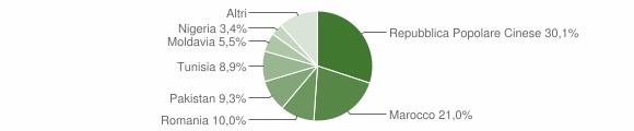 Grafico cittadinanza stranieri - Concordia sulla Secchia 2019