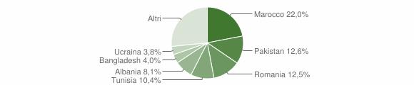 Grafico cittadinanza stranieri - Medicina 2007