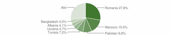 Grafico cittadinanza stranieri - Medicina 2012
