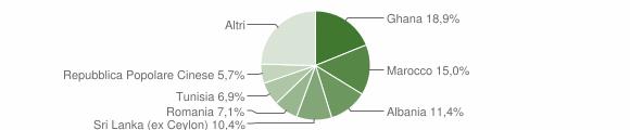 Grafico cittadinanza stranieri - Castelnuovo Rangone 2012